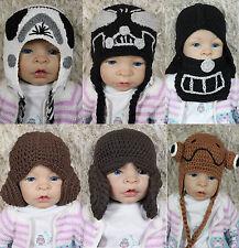 Star Wars Hat Darth Vader Storm Trooper Knit Crochet Hat Princess Leia Baby Hat