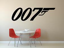 James BOND 007 pistola Pellicola Uomo Cool Ragazzi Ragazze Bambini Casa Decalcomania Della Parete Autoadesivo fi9
