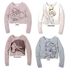 145L6 Choice Style Disney Juniors Graphic Crop Pullover Shirt Sweatshirt NWOT