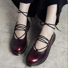 College Brogue Girls Faux Leather Flats Shoes Lolita Uniform JK Shoes Strappy