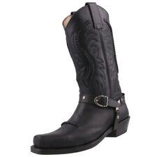 NUEVO Sendra biker boots botas vaqueras Botas de Cowboy 3434 Negro