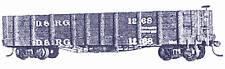 DENVER & RIO GRANDE RAILROAD GONDOLA Sn3 Craftsman Wood Kit TC5020
