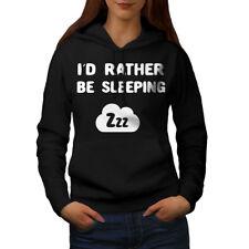 Wellcoda Rather Be Sleeping Womens Hoodie, Funny Casual Hooded Sweatshirt