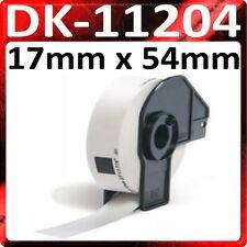 1 x ROLL 17mm x 54mm DK11204 QL500 QL 550 560 570 1050 1060N DK-11204 Labels