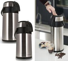 3L/5L LIVIVO STAIN/STEEL AIRPOT HOT TEA COFFEE DRINKS VACUUM FLASK THERMOS JUG