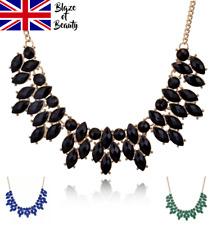 Fashion Bib Coloured Ladies Jewellery Necklace Spike Statement Fashion Gold UK