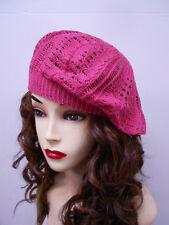Women Lady girl round thin Fashion Beret Beanie CROCHET French Artist CAP HAT