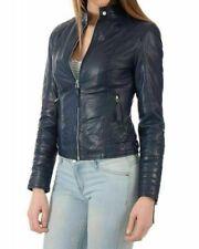 Noora New Women Genuine Lambskin Leather Bomber Jacket Modern Biker Styles QD282