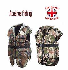 AQUARIUS pesca PFD galleggiabilità aiuti vita giacca gilet catarifrangente 45n-50n MIMETICO