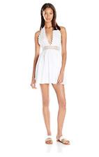 PILYQ  Women's Water Lily Crochet Celeste Dress Cover Up WAT-492D White NWT