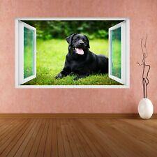 Labrador Retriever Dog Animal 3D Smashed Wall Sticker Mural Decal Kids Room CS57