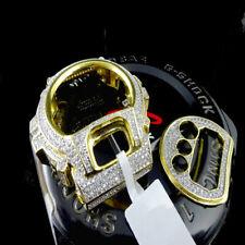 14K Gold Tone Casio G-Shock DW 6900 Simulated Diamond Watch Bezel Face Plate Set
