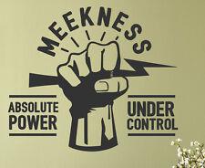 Meekness Absolute Power Under Control Mathew 5:5 God Decal Vinyl Wall Art R40B