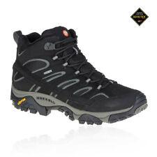 Merrell Moab 2 Mid Mens Black Gore Tex Walking Trekking Shoes Boots