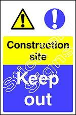 Construction site Keep out CONS0026 Construction building sitesignage