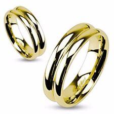 Damen Herren Ring gold poliert hochglanz 5 Gr Edelstahl -SCHMUCK von ALLFORYOU