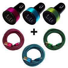 3.1A DUAL Auto Ladegerät Zigarettenanzünder Adapter + 1m Micro USB Ladekabel SET
