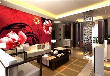 3D Rote Muster Fototapeten Wandbild Fototapete Bild Tapete Familie Kinder