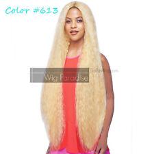 "Vanessa Brazilian Human Hair Blended Wavy Curly TDHB Nikola 45"" Lace Front Wig"