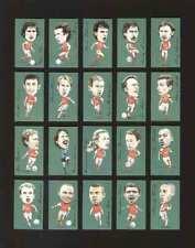 GOLDEN ERA - SET OF 20 FAMOUS FOOTBALLERS - ARSENAL