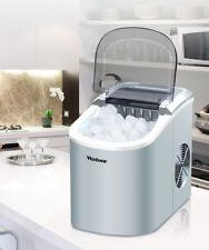 220V Stainless Commercial Ice Machine Portable Ice Cube Maker Restaurant Home