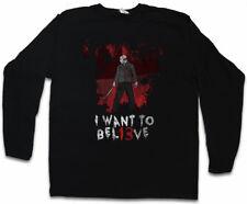 I WANT TO BEL13VE HERREN LANGARM T-SHIRT Believe The 13 Friday Jason 13th Fun
