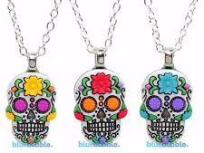 Bluebubble DIA DE LOS MUERTOS Sugar Skull Goth Necklace Day Of The Dead Skeleton