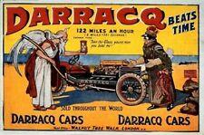 Vintage Old Transport Poster Darracq Print Art A4 A3 A2 A1