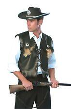 ADULT'S COWBOY WAISTCOAT WILD WEST COSTUME  MEN'S FANCY DRESS