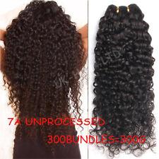 Curly Deep Wave Thick 3 Bundles 300G 100% Virgin Human Hair Brazilian Weft E456