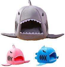 Casa Cama Estilo Tiburon de Fibra y Algodon Para Perro Cachorro o Gato
