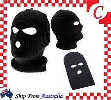 3 Holes Warm Winter SAS Style Mask Ski Black Balaclava Neck Warmer Paintball Hat