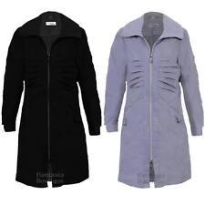 Ladies Long Sleeve Shower Proof Lightweight Women's Casual Raincoat Jacket