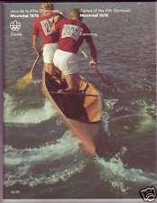 ORIGINAL PROGRAM MONTREAL 1976 OLYMPIC : CANOEING