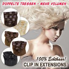 Premium extensions clip in DICK Echthaar GLATT 130G - 160G Haarverlängerung