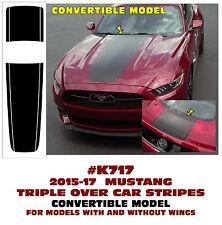 K717 2015 2016 2017 MUSTANG - TRIPLE OVER CAR STRIPE DECAL - CONVERTIBLE MODEL