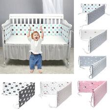 US Baby Crib Bumper Soft Infant Cot Guard Cotton Newborn Bed Around Protector