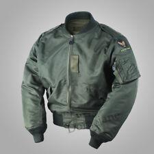 USAF Army WW2 Mens Polit L2B Flight Bomber Jacket Military L2 Fall Nylon Coat