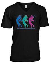 Kokopelli Hopi Fertility Gods Native American Spirit Healer Mens V-neck T-shirt