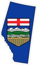 Alberta Map Flag Decal / Sticker