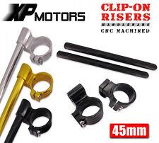 45mm CNC Billet Racing Riser Clip-On Handlebars For Honda CBR600RR 2003 2004