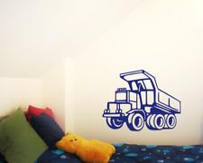 Wandtattoo Kipplaster Baumaschine Baustelle Wandaufkleber  25 Farben 4 Größen