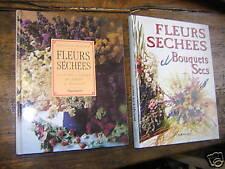 2 livres sur les fleurs séchées bouquets secs de malcom hillier et Arnold