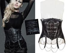 Corset serre-taille ceinture gothique punk lolita steampunk chaînes Punkrave