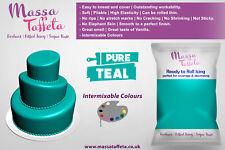Massa Taffeta | Fondant Sugar paste Ready to Rolled Icing Cake Craft | Pure Teal