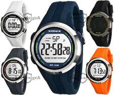 Men's XONIX sports watch, quartz, LCD, stopwatch, alarm, timer, WR100M