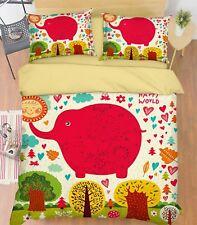 3D Kid Elephant 576 Bed Pillowcases Quilt Duvet Cover Set Single Queen Au Carly