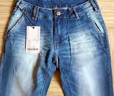 Jeans uomo Angel Devil cotone elasticizzato con sbiaditure e rotture art JU101