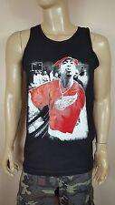 2PAC RED WINGS  Black Tank Top  NWA HIP HOP LA  TUPAC SHAKUR Row Dre Snoop Outla