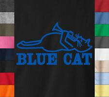 BLUE CAT Records T-Shirt Saxophone Ska Jazz Funk Soul Label Ringspun Cotton Tee